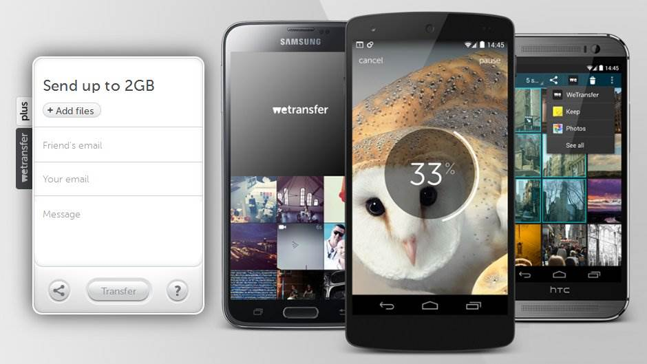 WeTransfer za Android uređaje.