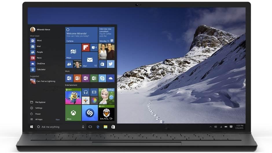 Windows 10 Start Meni.