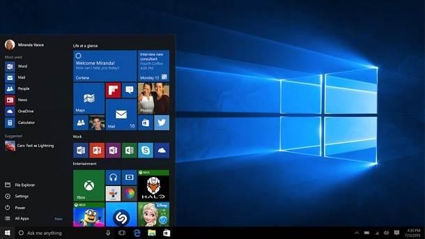 Windows 10 default wallpaper