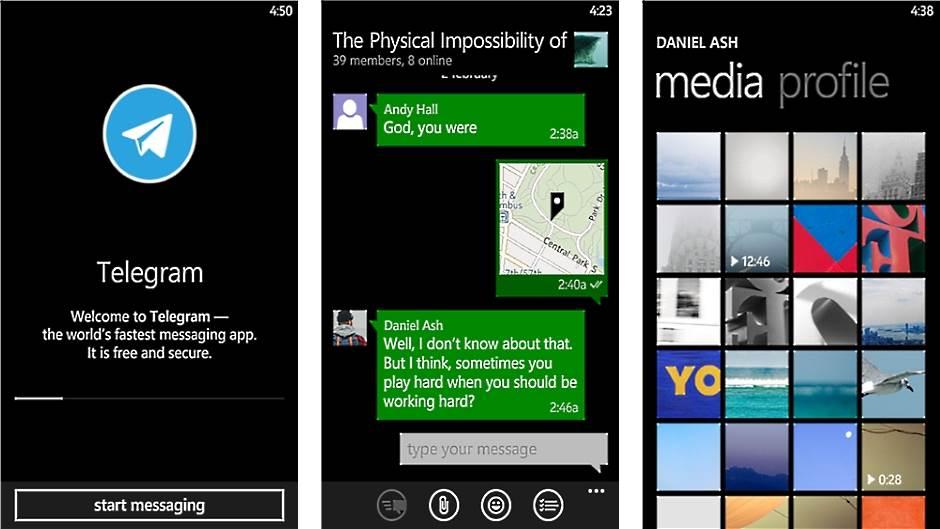 Telegram za Windows Phone.