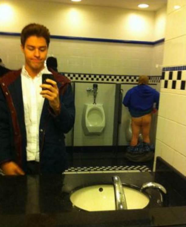 WC, selfi