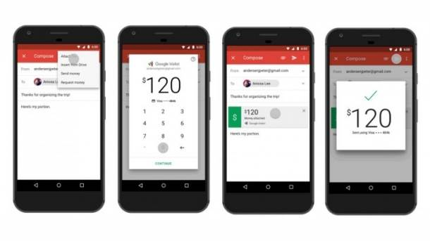 Google, Gmail, Google Wallet, Android, pametni telefoni, slanje novca