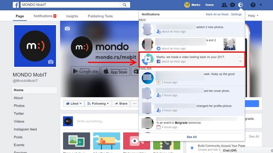 Year in review 2017 na Facebook mreži.