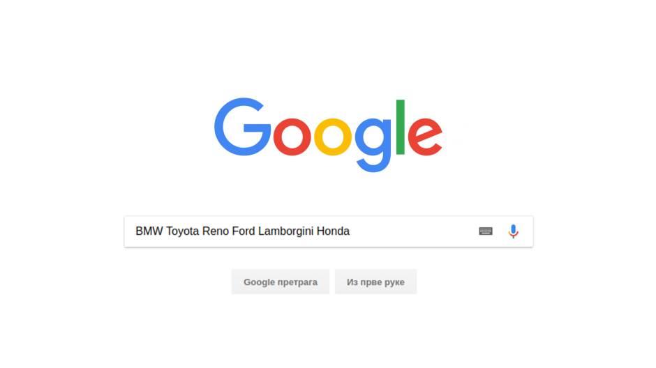 google, automobili