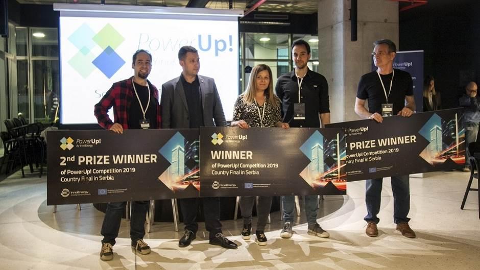 Pobednk PowerUp! Srbija takmičenja startap Smart cat Novi Sad, Optimus power Smart Cat startup