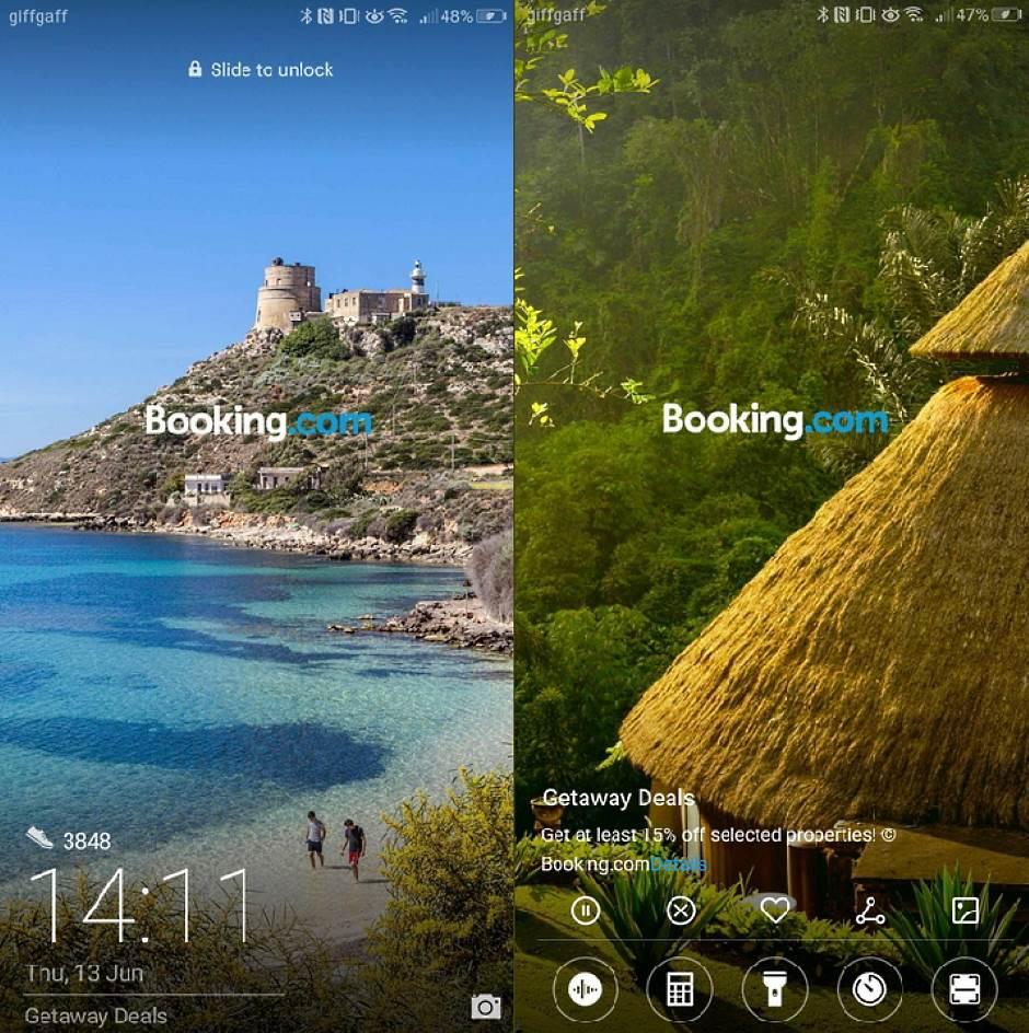 Huawei reklame zaključan ekran, Huawei prikazuje reklame na zaključanom ekranu telefona, Loock Screen