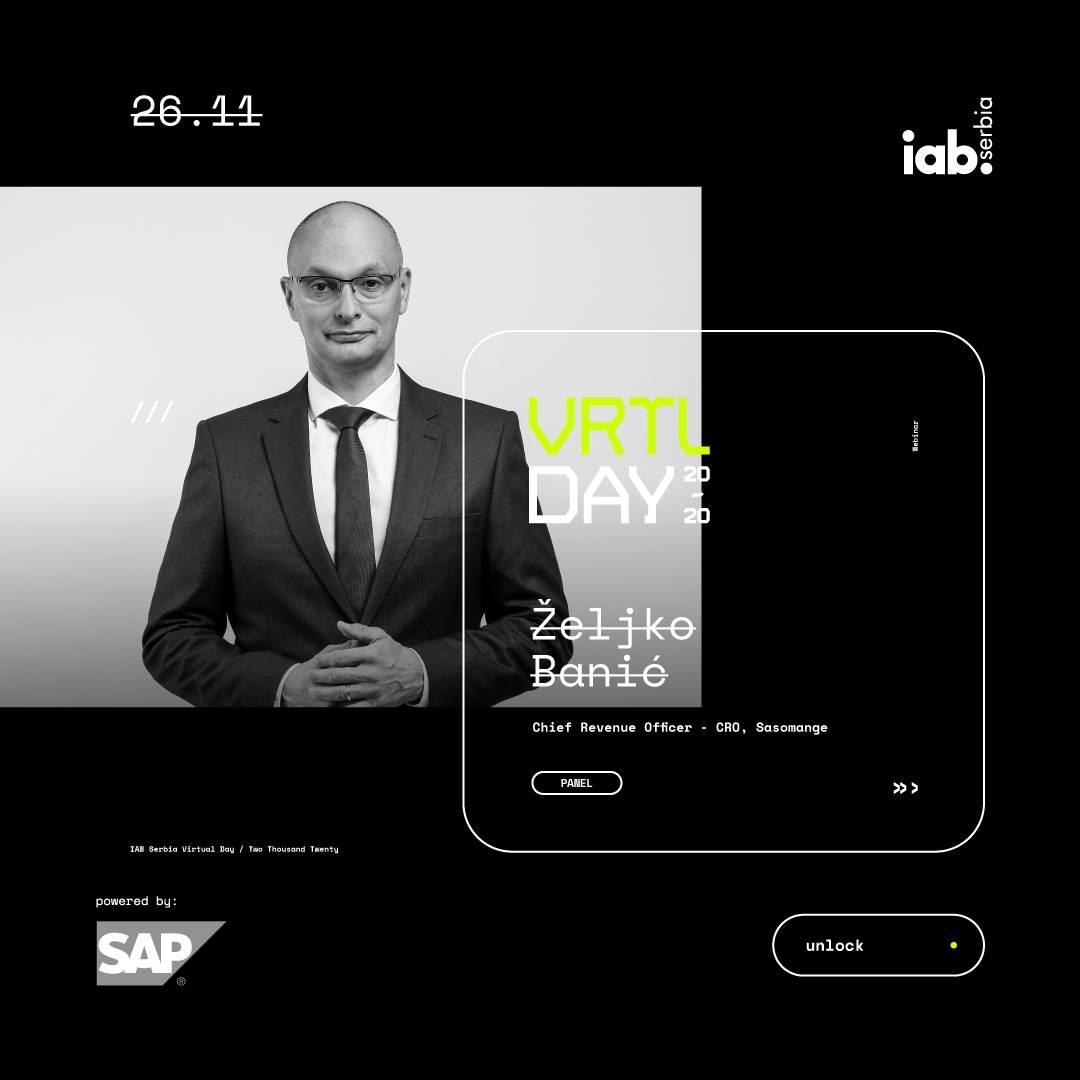 Iab Srbija Digital Day 26. novembar Virtual Day webinar online, Željko Banić