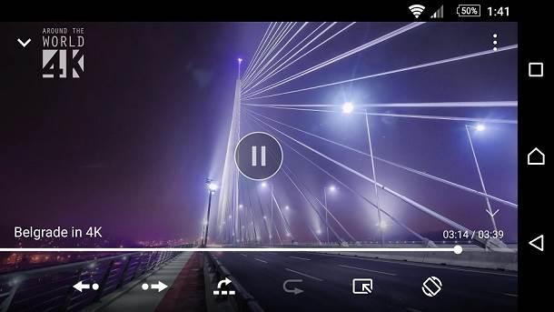 Sony Xperia Media aplikacije - video