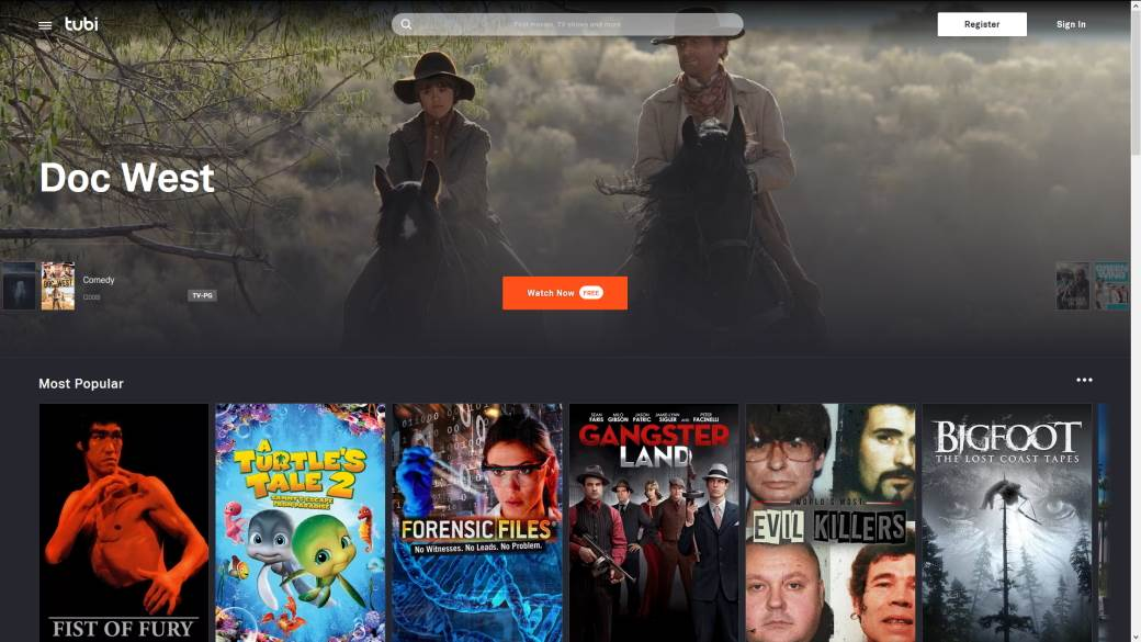 Tubi besplatno gledanje filmova serija, Streaming, Striming