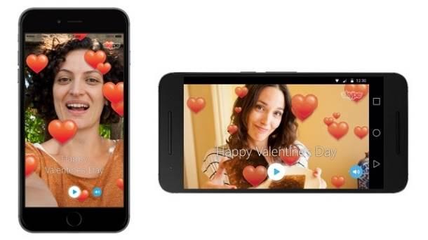 Skype Valentine's card