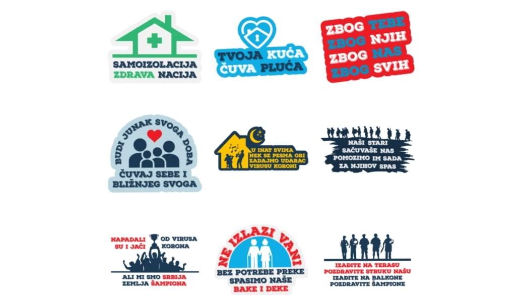 Viber stikeri Republika Srbija korona virus, Viber #OstaniKodKuce Republika Srbija stikeri korona