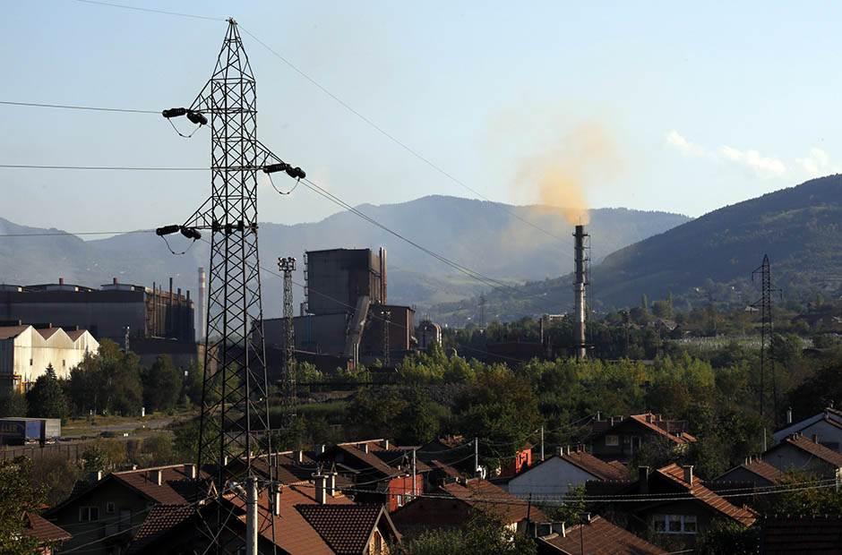 zagađenje, dimnjak, struja, čeličana, zenica ekologija smog