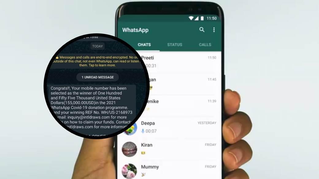 whatsapp poruka prevara korona nagrada 155000 dolara ne otvarajte vocap cirklularnu poruku
