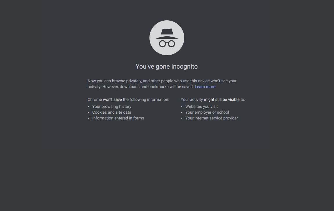 Chrome Incognito mode šta znači i šta pamti