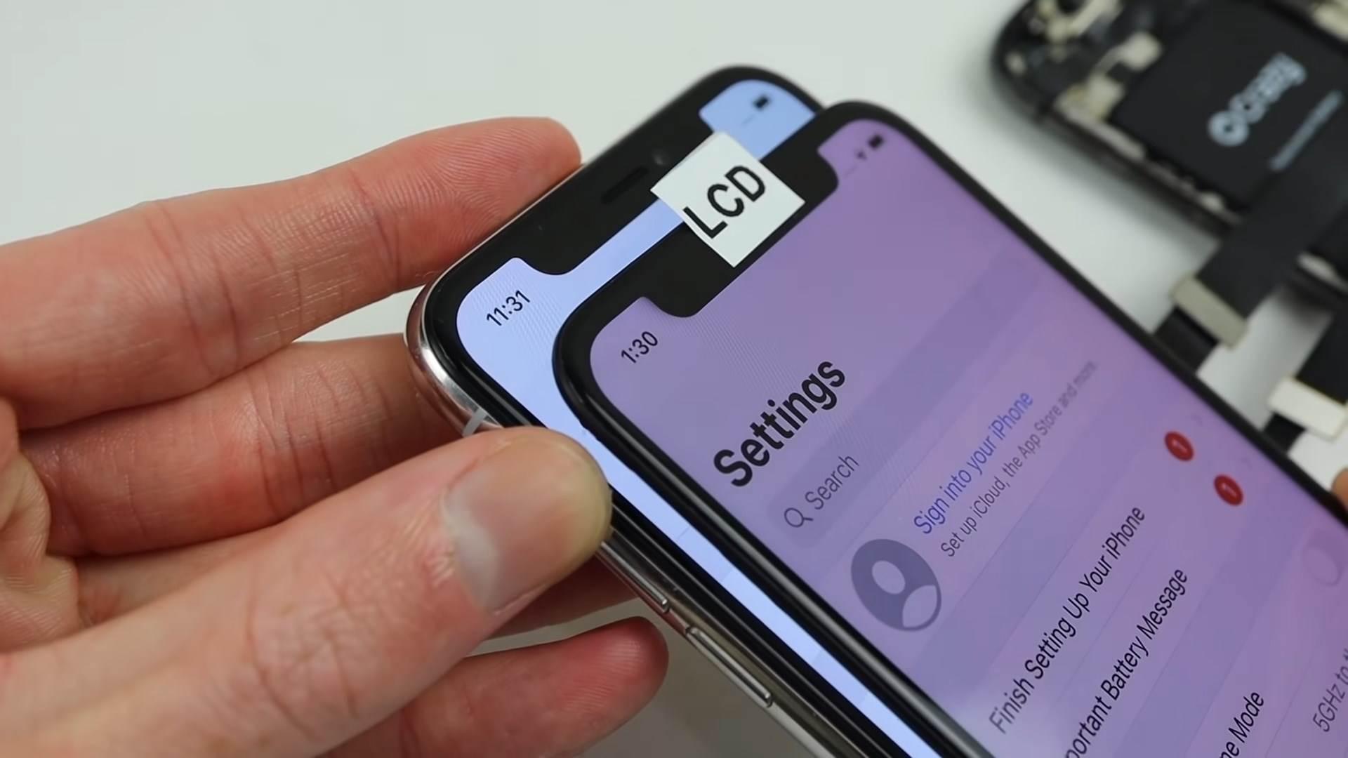 iPhone ekrani OLED i LCD