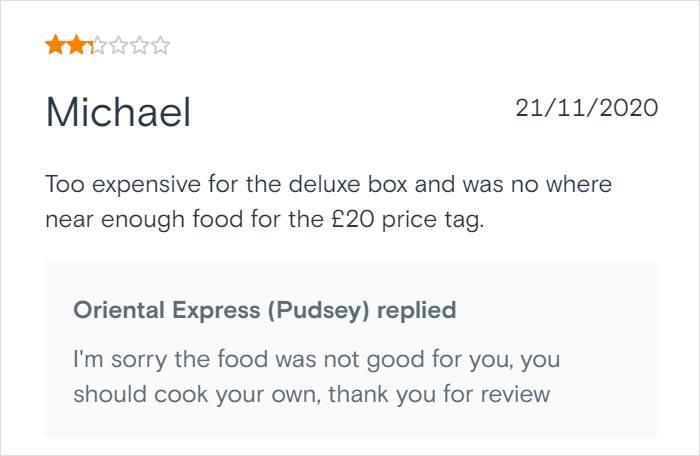 Majkl kaže da je preskupa hrana za ono što se dobija