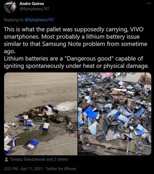 vivo telefoni zapaljeni aerodrom hong kong baterije loše
