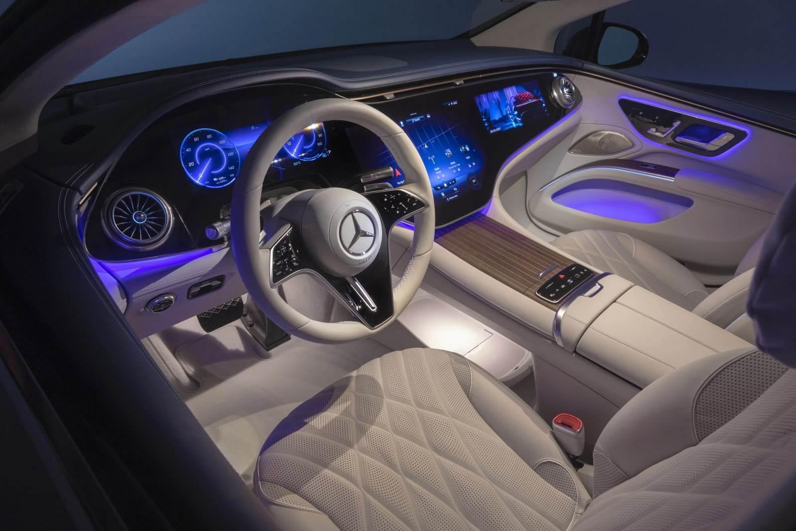 Mercedes Benz EQS unutrašnjost