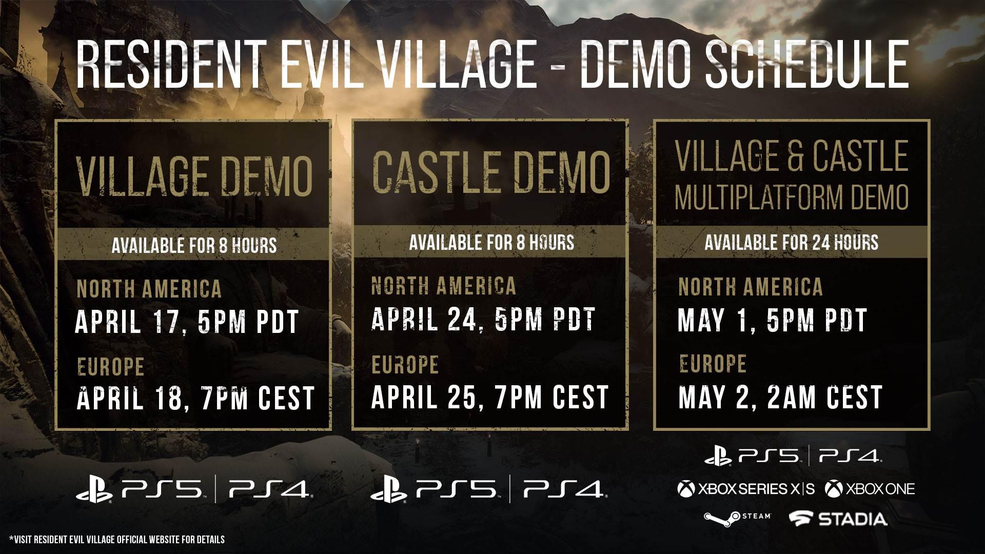 resident evil village demo termini pc konzole kako igrati kako preuzeti