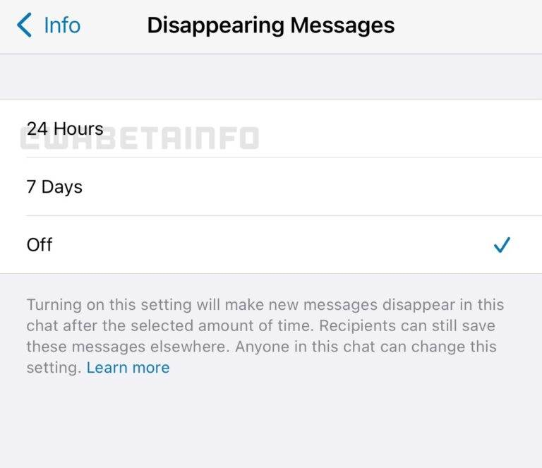 whatsappdisappearing messages poruke koje nestaju