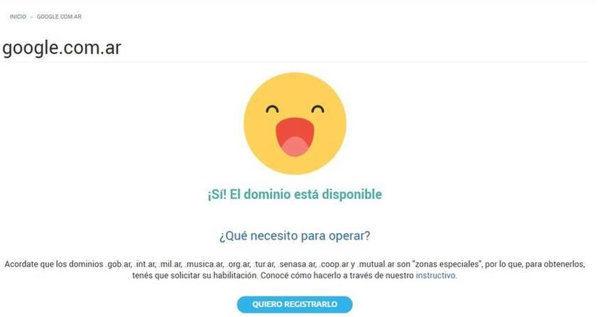 slobodan Google Argentina domen