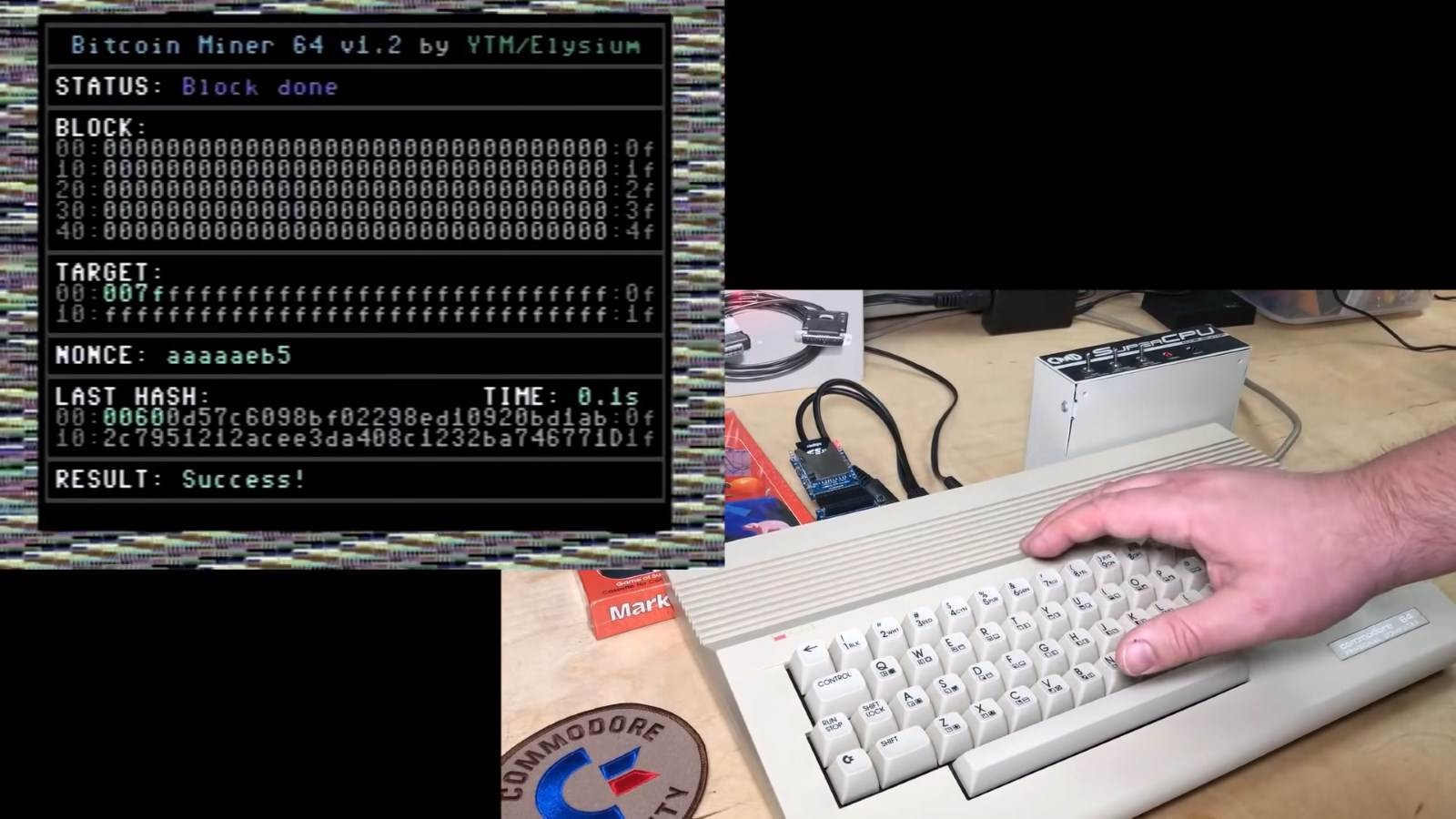 Commodore 64 Bitcoin rudarenje
