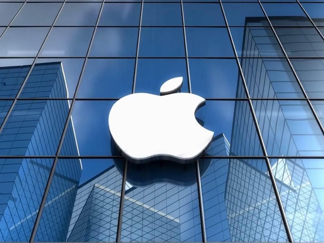 Apple znak na zgradi