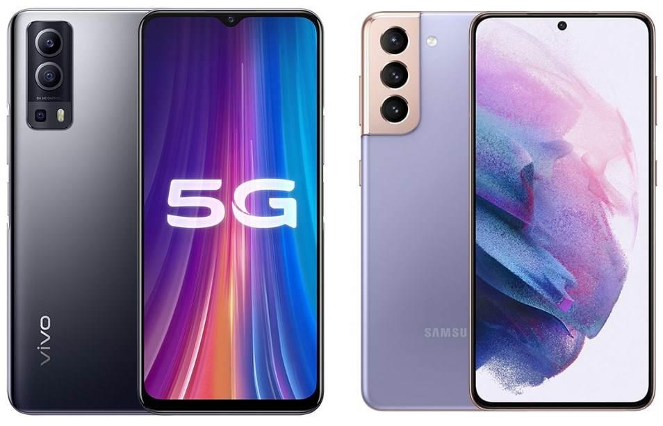 Vivo Y72 5G i Samsung Galaxy S21 5G
