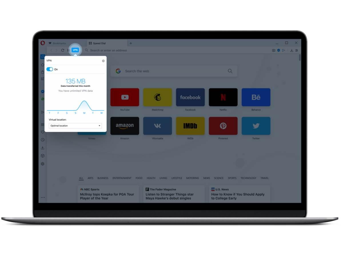 Opera besplatan VPN