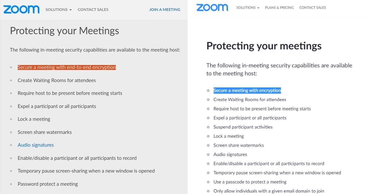 Zoom enkripcija nekad i sad