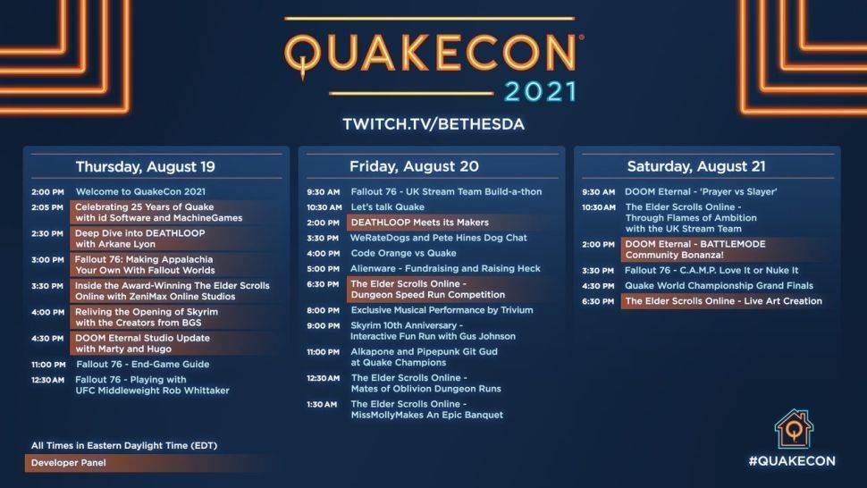 QuakeCon 2021 raspored