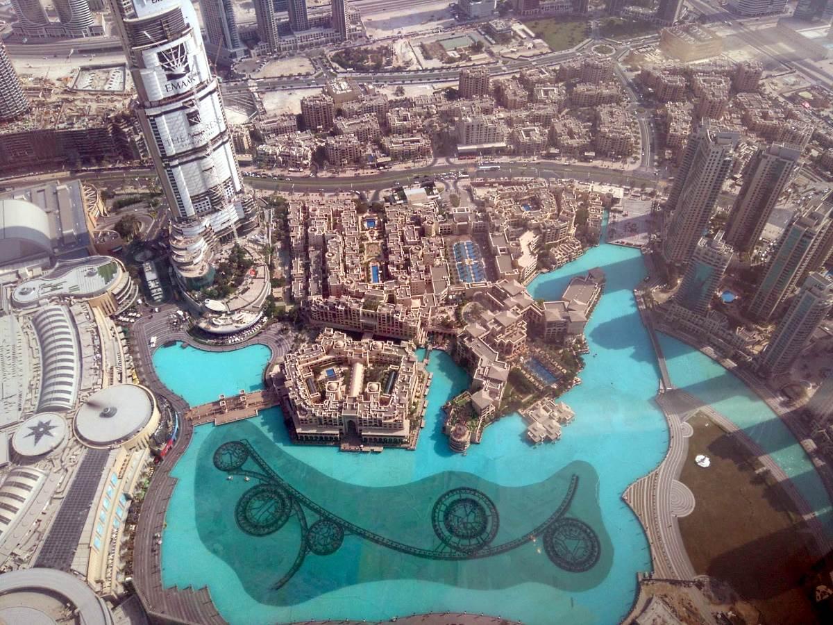 Dubai pogled sa visine iz vazduha