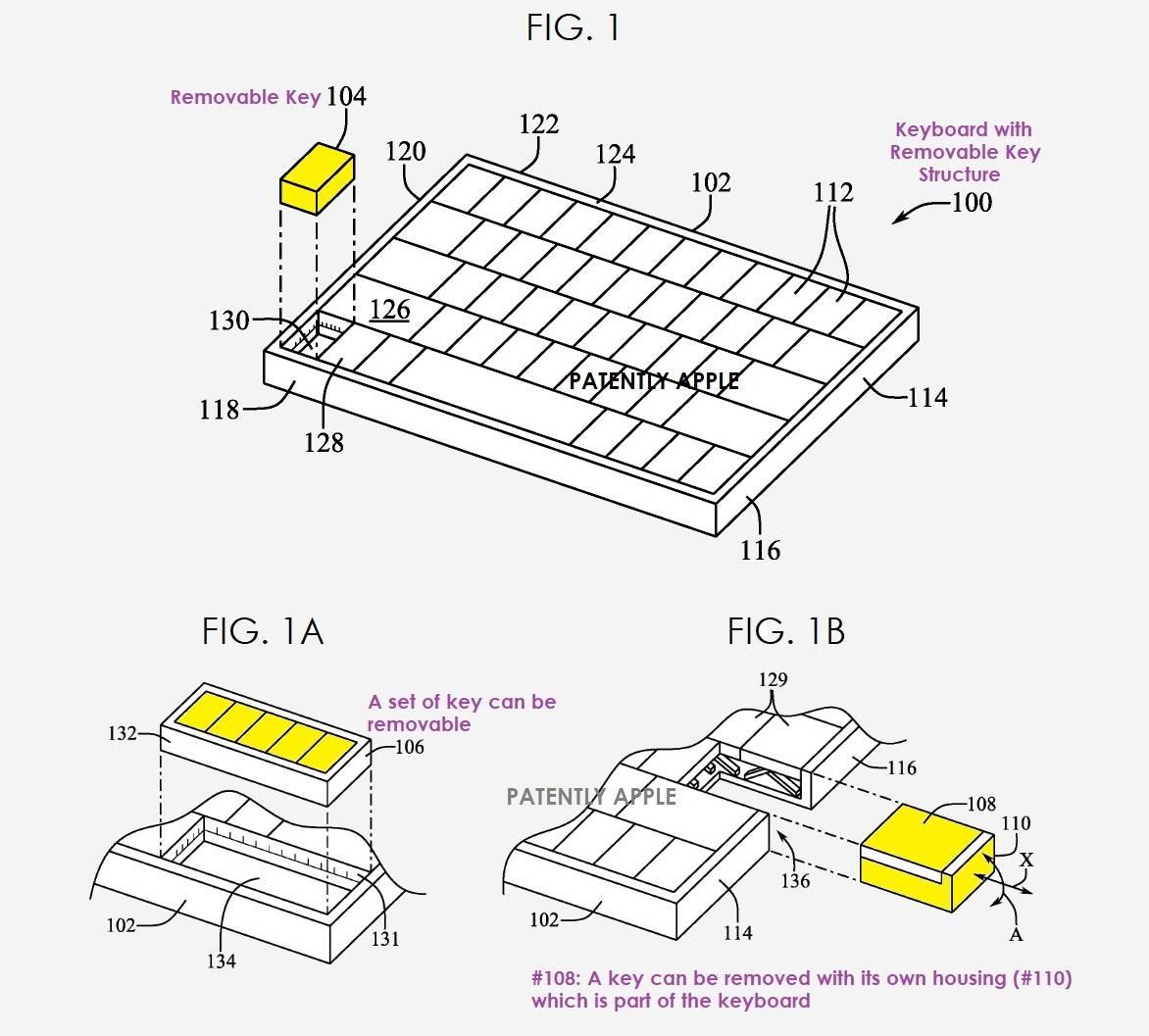 Apple patent tastature
