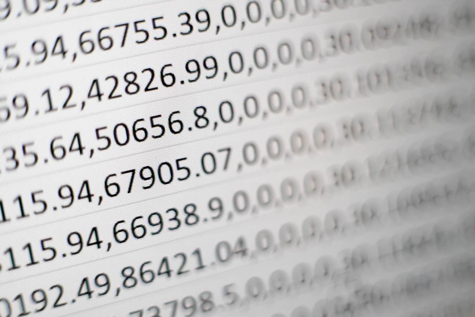 Brojevi u tabeli