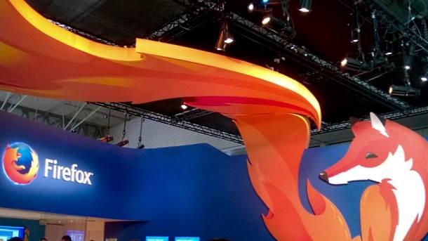 Firefox štand na MWC 2014 sajmu.