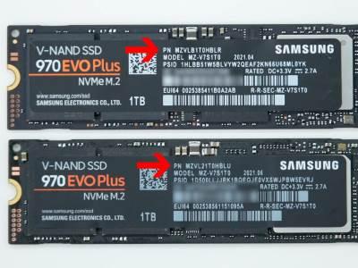 Samsung 970 Evo Plus stari i novi