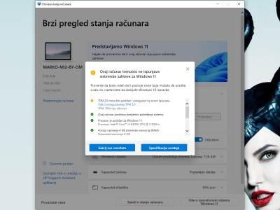 PC Health Check Aplikacija kako radi za Windows